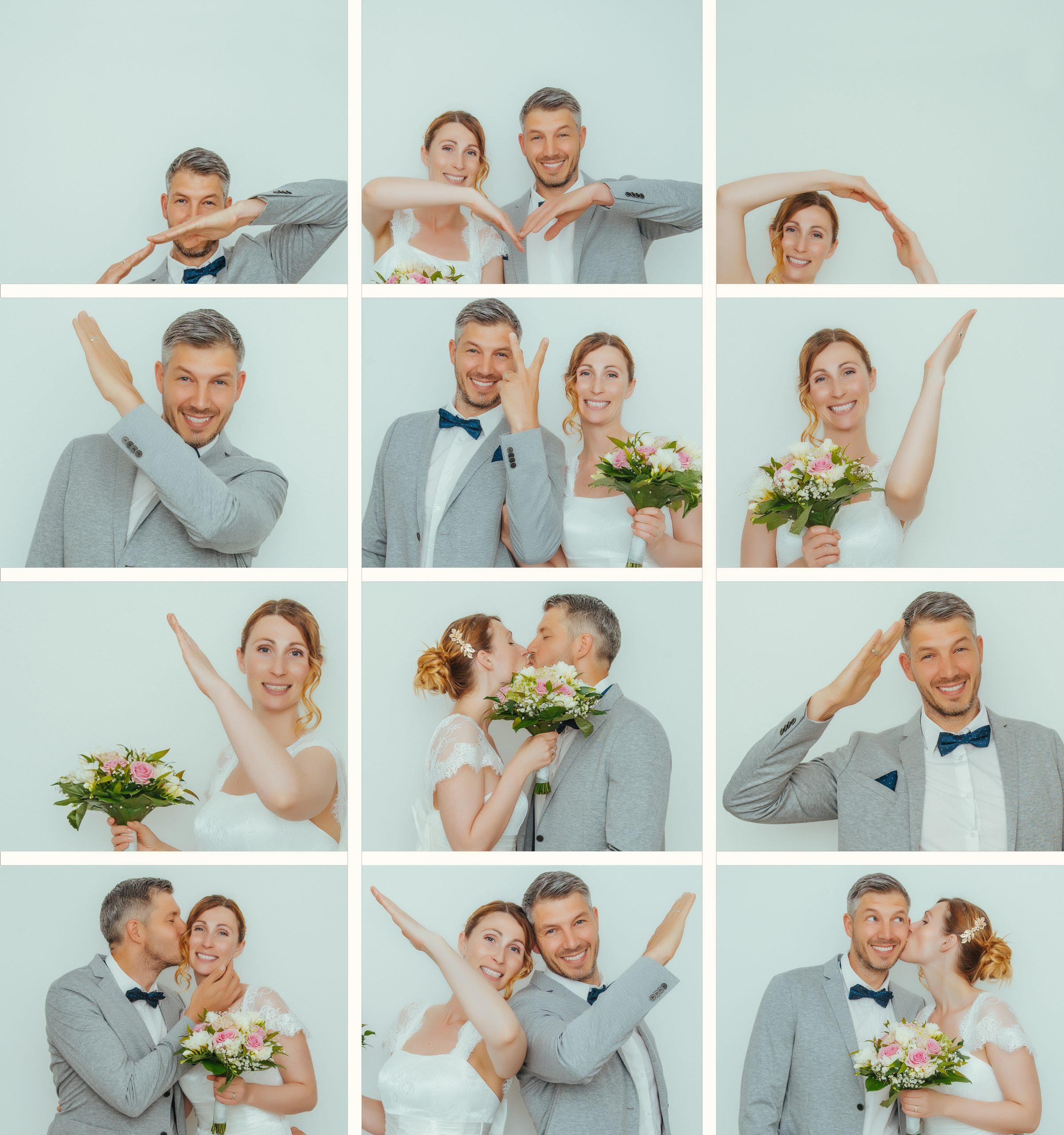bride and groom in wedding attire dancing